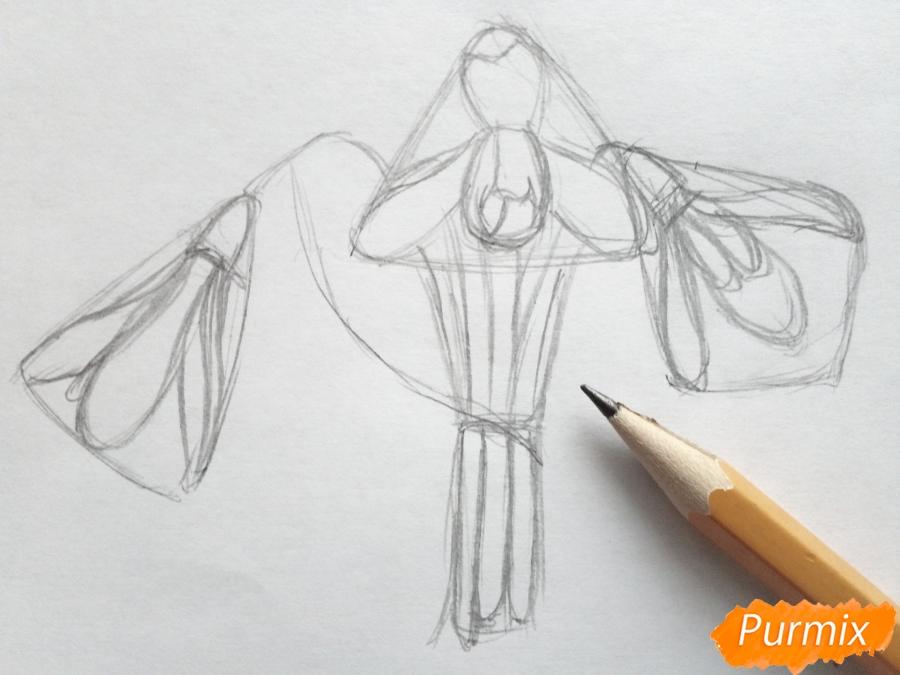 Рисуем букет подснежников цветными карандашами - фото 3