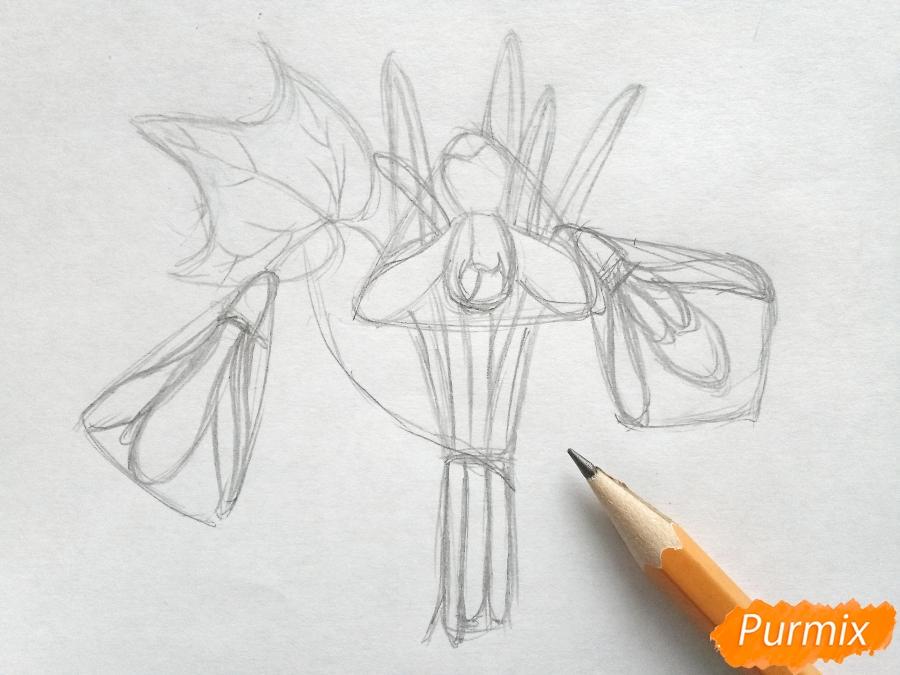 Рисуем букет подснежников цветными карандашами - фото 4
