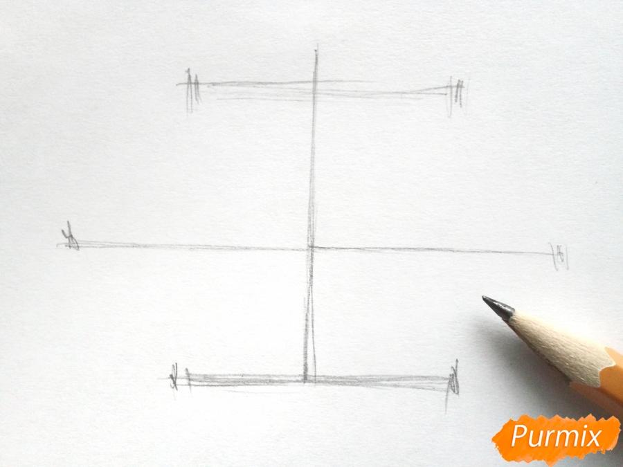 Рисуем букет подснежников в вазе карандашами - фото 1