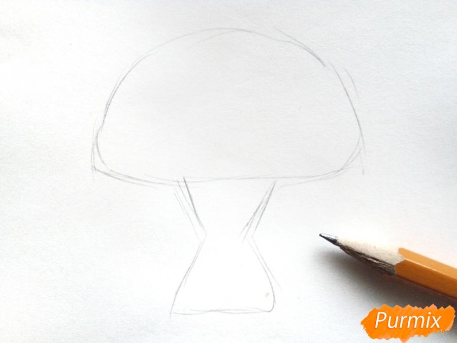 Рисуем букет подсолнухов цветными карандашами - шаг 1