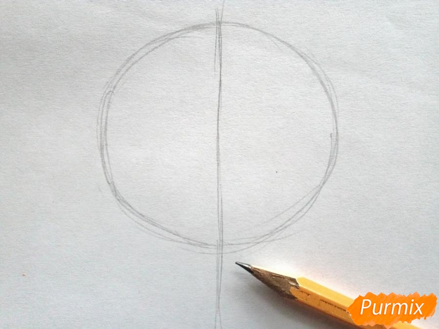 Рисуем кленовый лист черной ручкой - фото 1