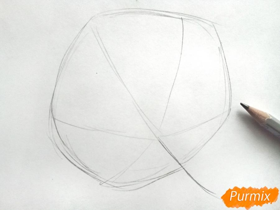 Рисуем лист каштана карандашами - фото 1