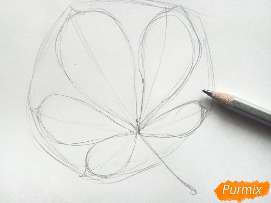Рисуем лист каштана карандашами - фото 2