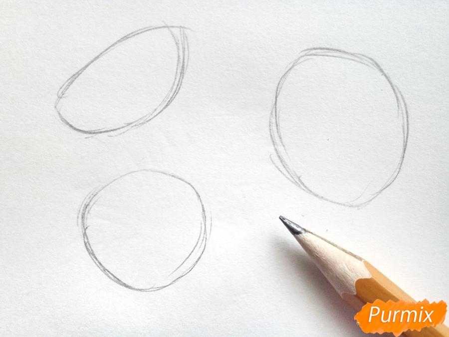 Рисуем подсолнухи в вазе - шаг 1