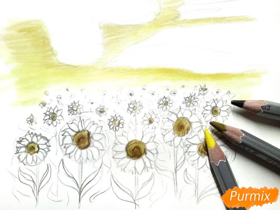 Рисуем поле подсолнухов - фото 5