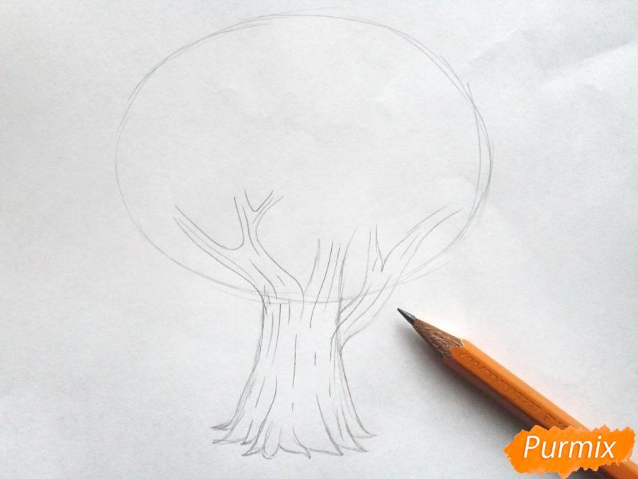 Рисуем родословное дерево просто для детей - шаг 2