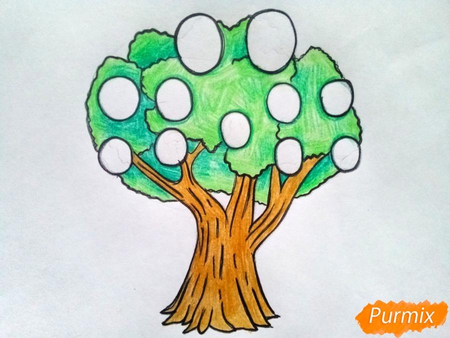 Рисуем родословное дерево просто для детей - шаг 7