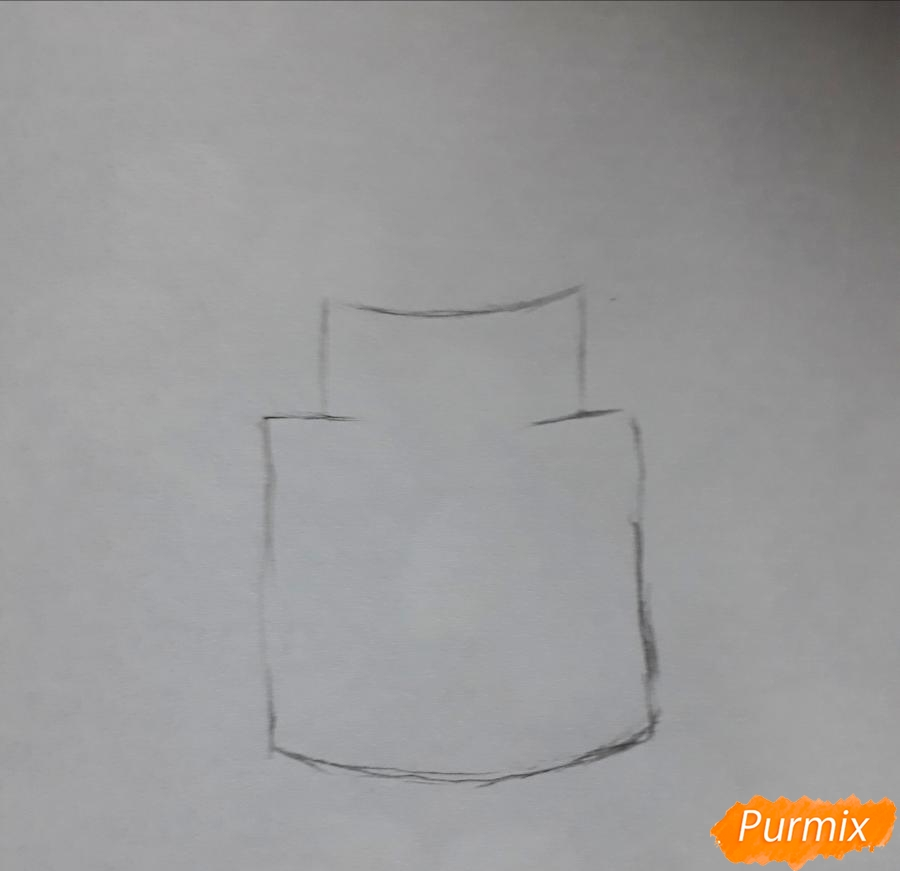 Рисуем ромашку в стеклянной банке - шаг 1