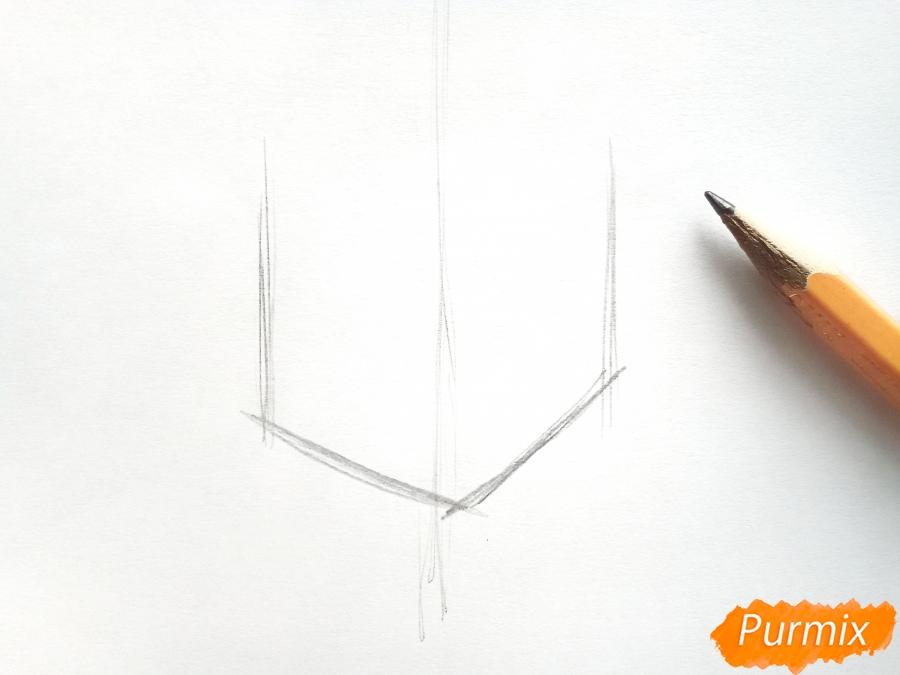 Рисуем вазу с ромашками карандашами - фото 1