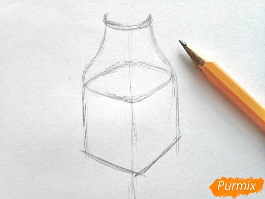 Рисуем вазу с ромашками карандашами - фото 2