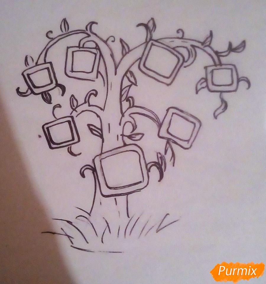Как просто нарисовать семейное дерево - шаг 4