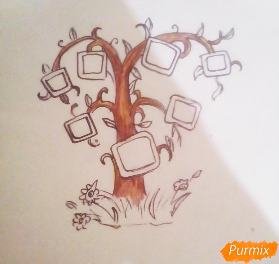 Как просто нарисовать семейное дерево - шаг 6