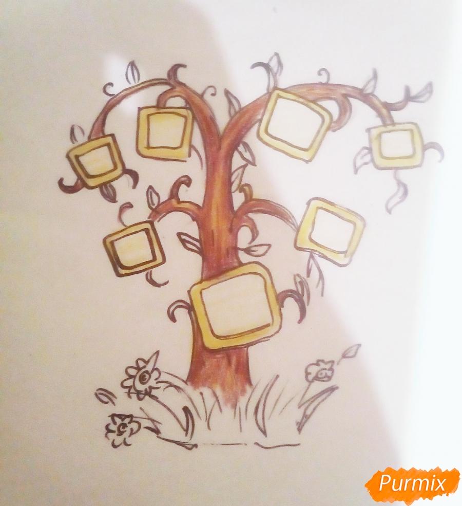 Как просто нарисовать семейное дерево - шаг 7