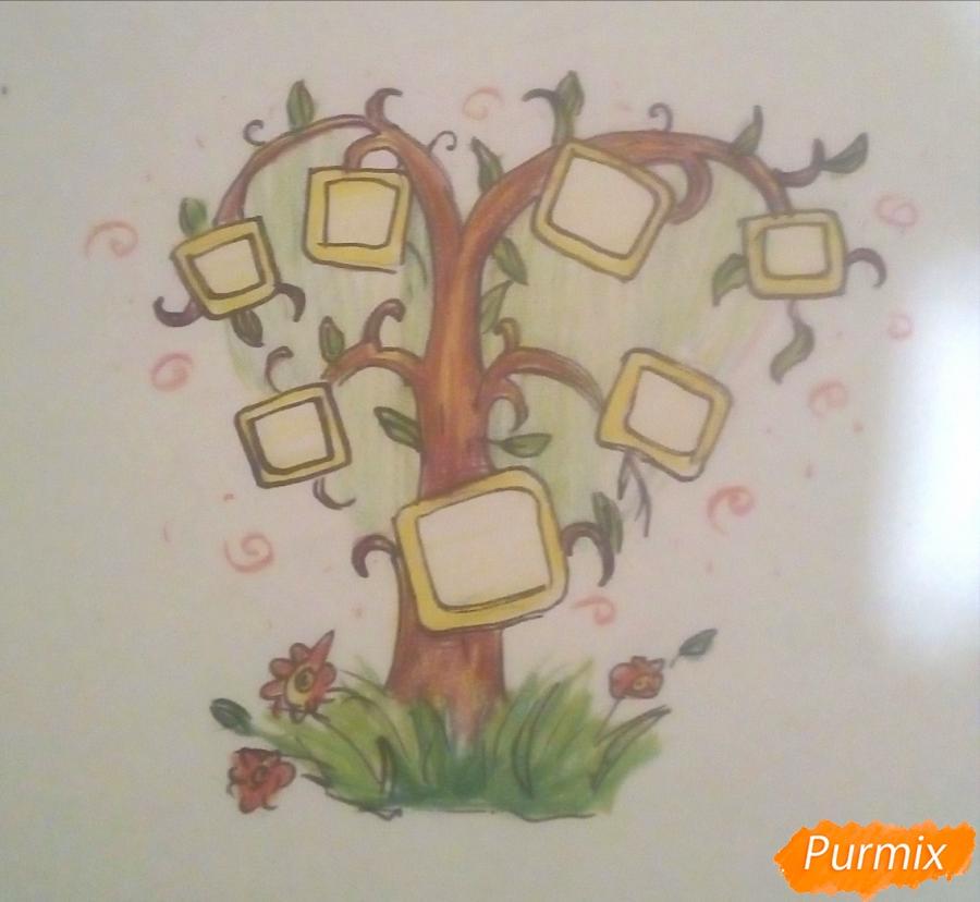 Как просто нарисовать семейное дерево - шаг 8