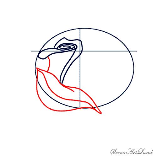Рисуем белую розу - фото 3