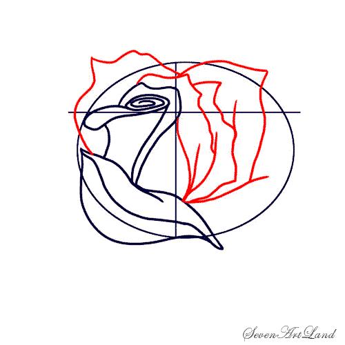 Рисуем белую розу - фото 4