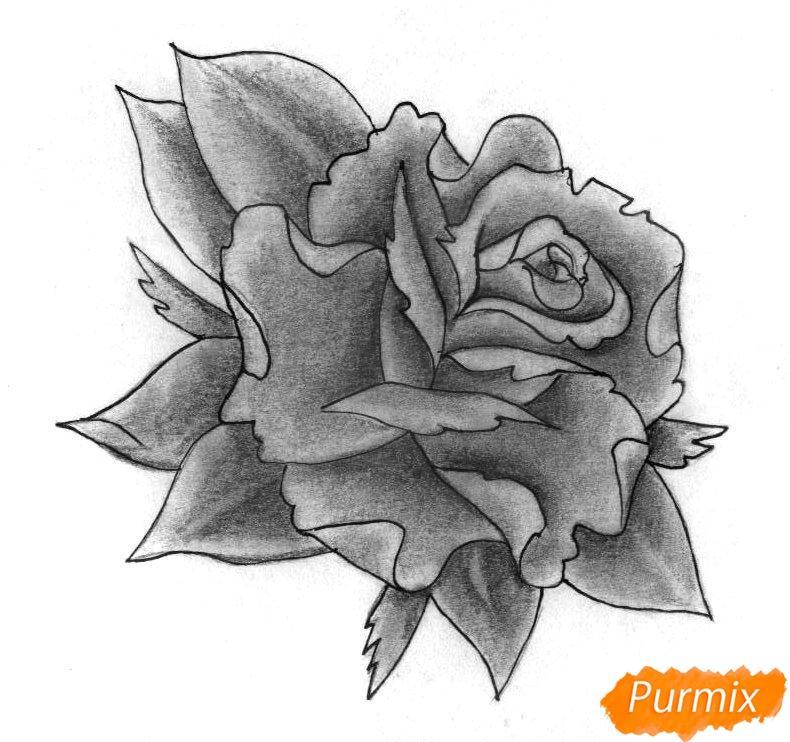 Рисуем бутон розы - фото 4