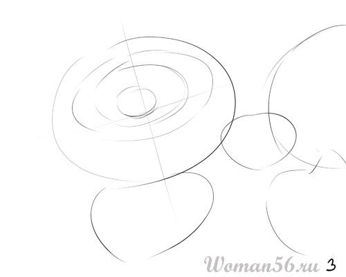 Рисуем цветок лотос - шаг 3