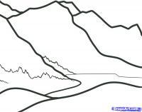 Как нарисовать Горы карандашом поэтапно