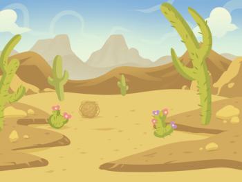 Как нарисовать кактусы в пустыне карандашом поэтапно