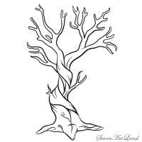 Как нарисовать мертвое дерево карандашом поэтапно