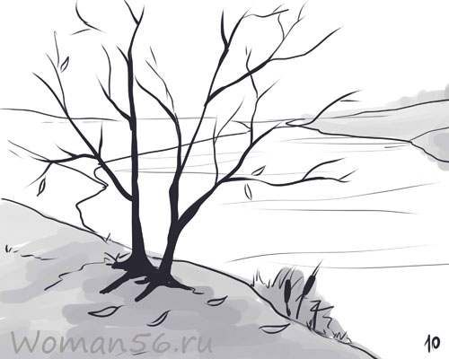 ... осенний пейзаж карандашом поэтапно: purmix.ru/lessons.php?k=1601