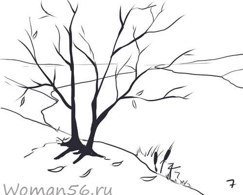 Рисуем осенний пейзаж карандашами - фото 7