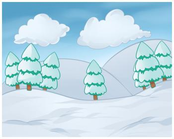 Зимний пейзаж карандашом поэтапно