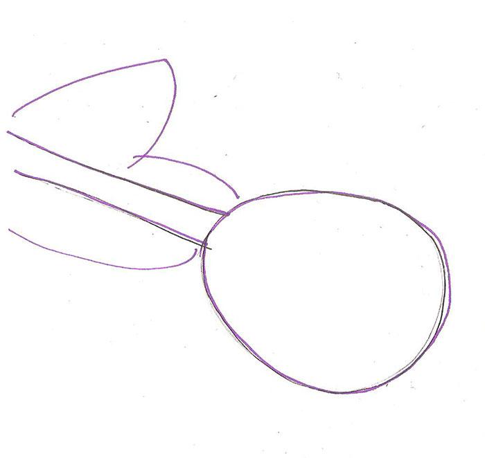 Рисуем лежащую розу ручкой - фото 1