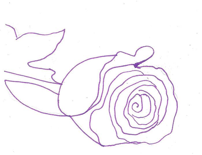 Рисуем лежащую розу ручкой - фото 3