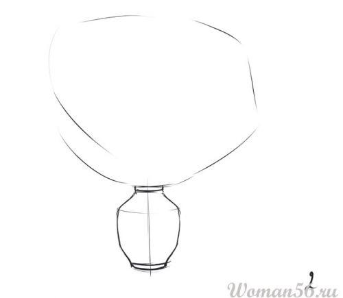 Рисуем вербу в вазе