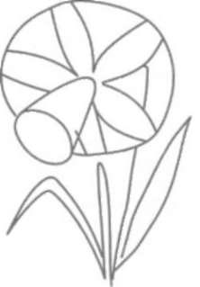 Как рисовать Нарциссы - шаг 1