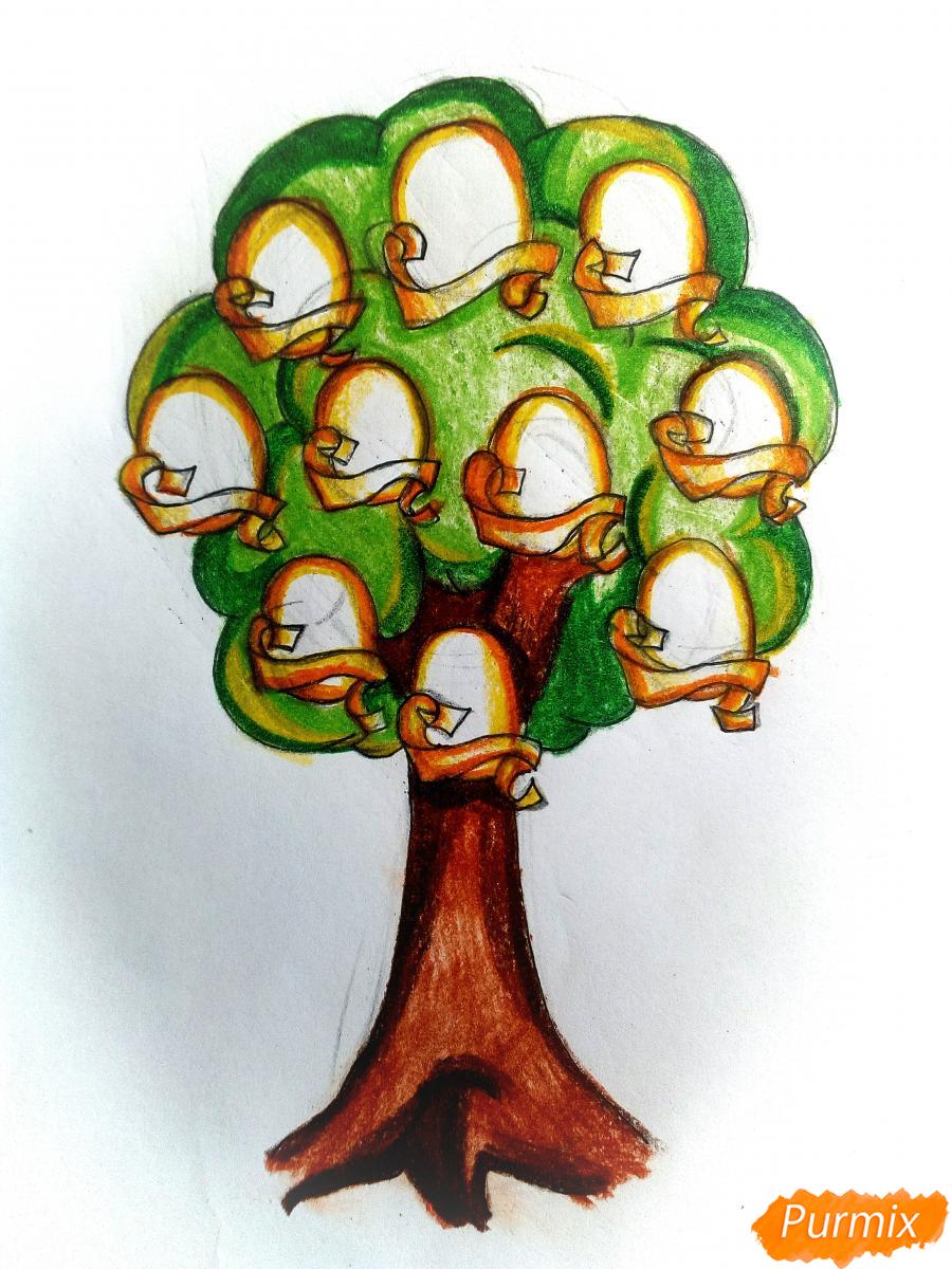 Рисуем генеалогическое древо семьи - шаг 11
