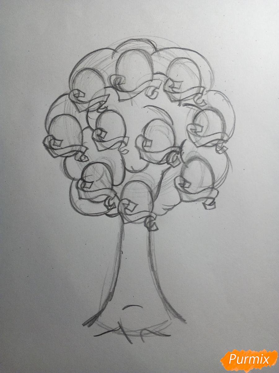 Рисуем генеалогическое древо семьи - шаг 3