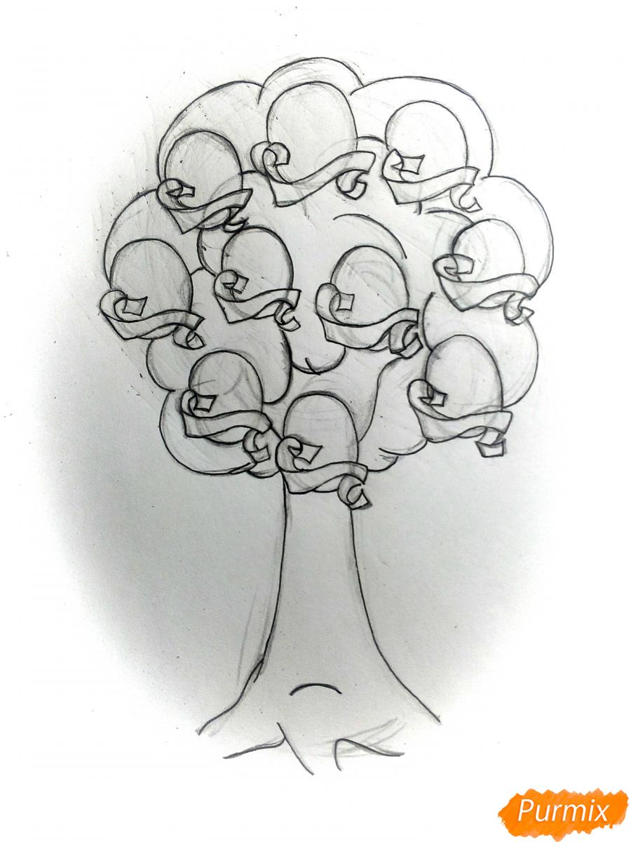 Рисуем генеалогическое древо семьи - шаг 4