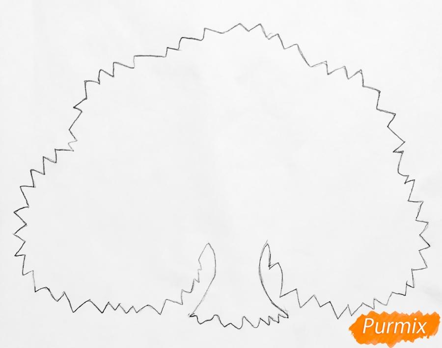 Рисуем семейное генеалогическое древо с птичками для детей - шаг 1