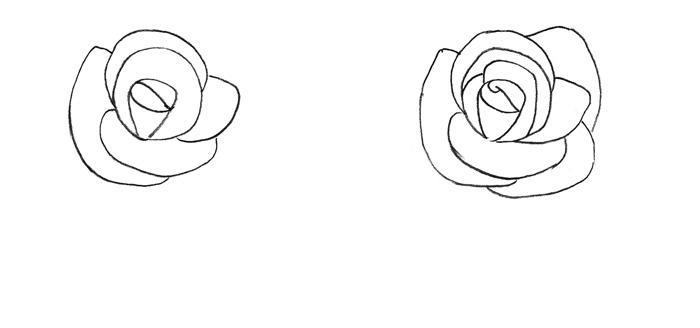 Рисуем розу для детей - фото 2
