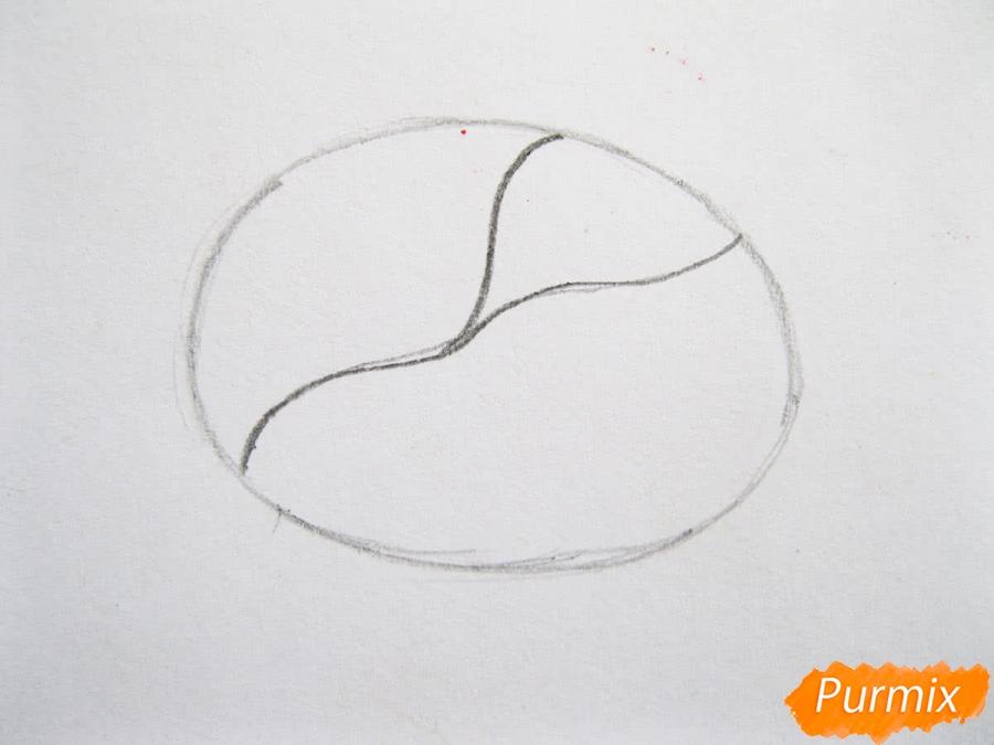Как легко нарисовать кочан капусты цветными карандашами - фото 2
