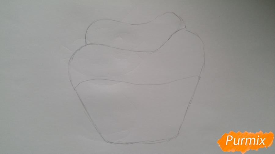 Рисуем милый кексик - фото 3
