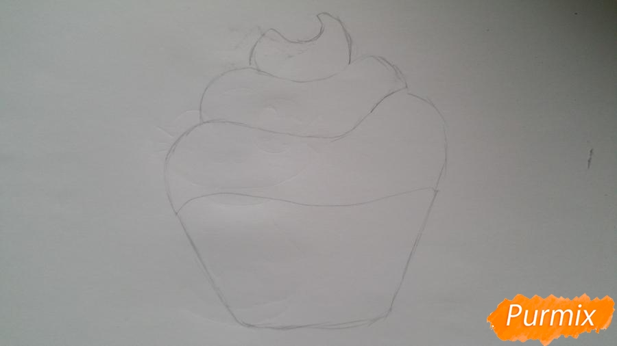 Рисуем милый кексик - фото 4