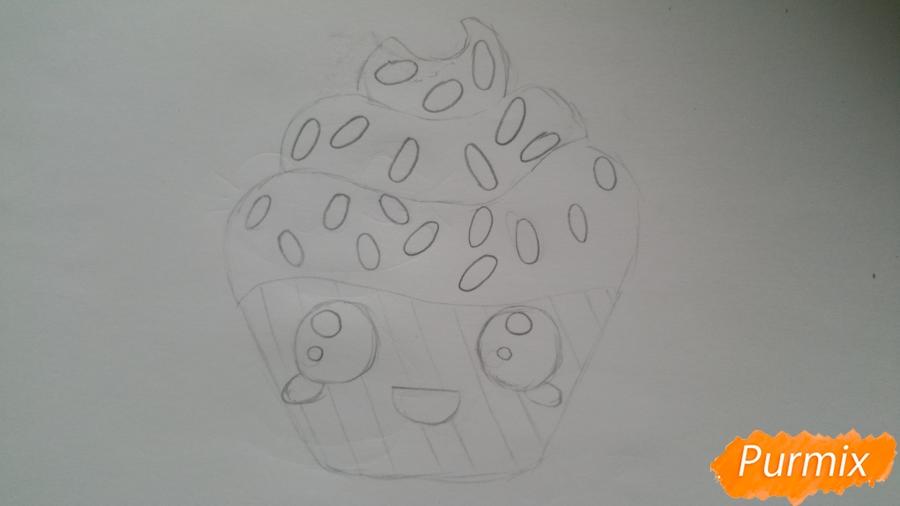 Рисуем милый кексик - фото 6