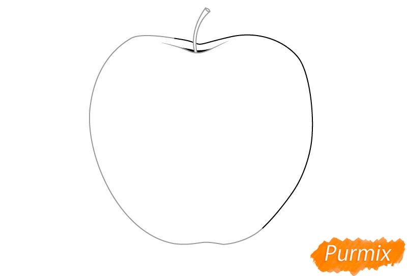 Рисуем откушенное яблоко - шаг 2