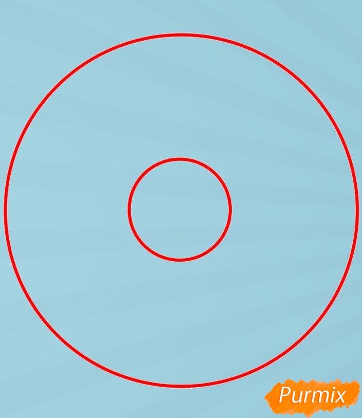 Рисуем пончик простым способом - фото 1