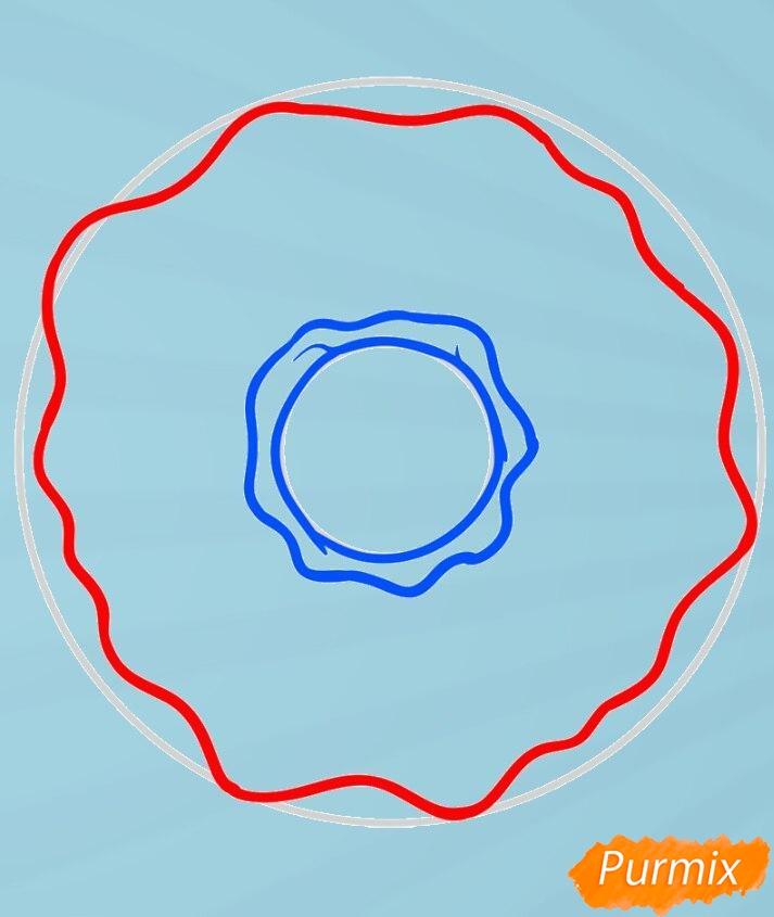 Рисуем пончик простым способом - фото 4