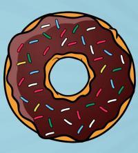 Рисунок пончик простым способом