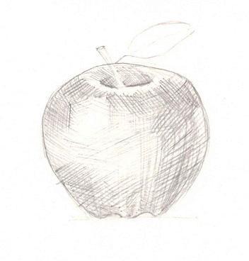 Рисуем яблоко с тенью - шаг 3