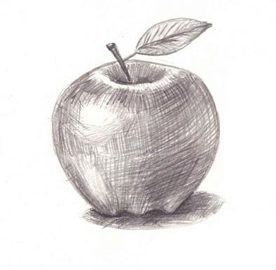 Рисуем яблоко с тенью - шаг 4