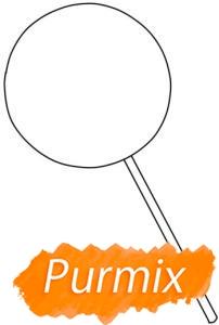 Рисуем закрученный леденец на палочке - шаг 1