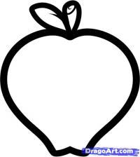 Как легко нарисовать яблоко карандашом