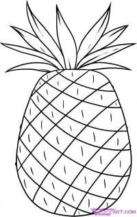 ананас карандашом